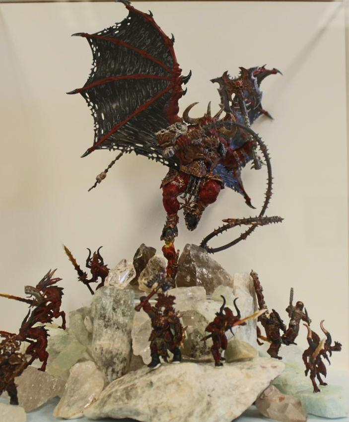 Warhammer Age of Sigmar and Blades of Khorne painted mini figurines